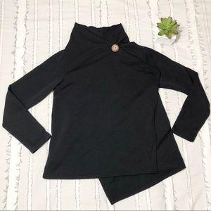 bobeau | black asymmetrical cardigan sp